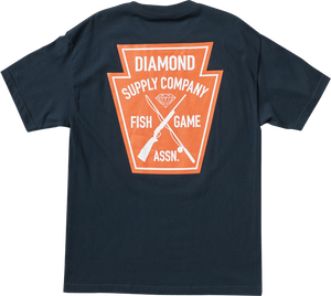DIAMOND FISH & GAME CREST SS M-NAVY