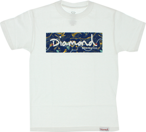 DIAMOND LOW LIFE BOX SS XXL-WHT/NAVY