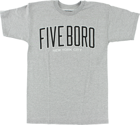 5BORO ACADEMY SS S-HEATHER GREY