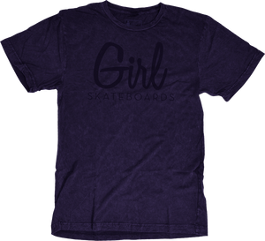 GIRL CENTURY SS S-NAVY MINERAL WASH