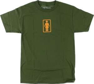 GIRL CLASSIC OG SS XL-ARMY GREEN/ORG