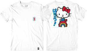 GIRL HELLO KITTY RAINBOW SS XL-WHITE