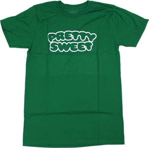GIRL PRETTY SWEET OUTLINE SS XL-KELLY GRN premium