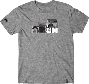 GIRL X SUB POP SHELF TRIBLEND SS S-HEATHER GREY
