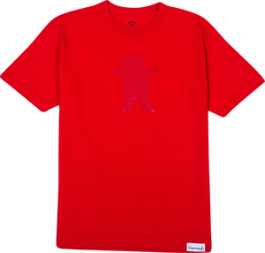 GRIZZLY TONAL BEAR CUTOUT SS XL-RED