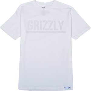 GRIZZLY TONAL STAMP SS S-WHITE