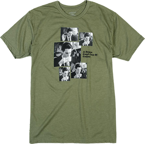 HABITAT/TWIN PEAKS COOPER COFFEE SEQUENCE SS XL-OLIVE