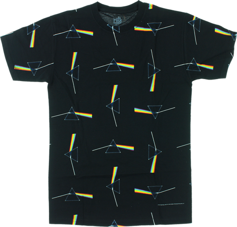 HAB/PINK FLOYD DARK SIDE ALL OVER PRINT SS M-BLACK