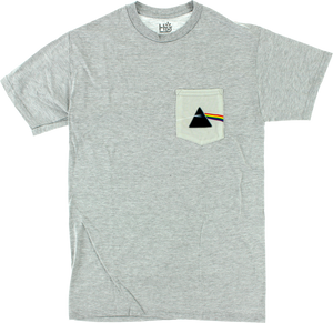 HAB/PINK FLOYD DARK SIDE  POCKET SS S-GREY HEATHER