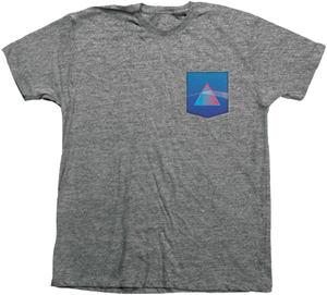 HAB/PINK FLOYD DARK SIDE  POCKET SS M-GREY HEATHER