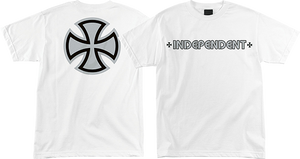 INDEPENDENT METALLIC BAR/CROSS SS M-WHT/SILVER