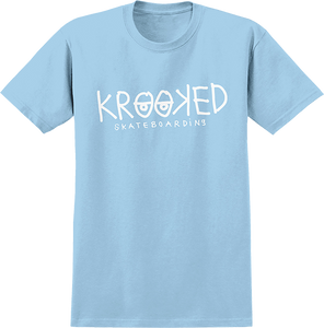KROOKED SKATEBOARDS EYES SS S-POWDER/WHT