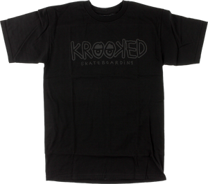 KROOKED SKATEBOARDS KROOKED EYES SS S-BLK/CHARCOAL