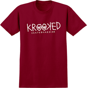 KROOKED SKATEBOARDS KROOKED EYES SS M-RED/WHT