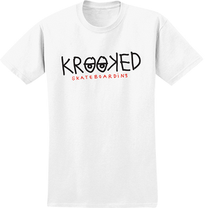 KROOKED SKATEBOARDS KROOKED EYES SS XL-WHT/BLK