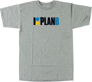 PLAN B OG SS M-HEATHER GREY