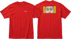 PRIMITIVE SKATEBOARD R&M MORTY HYPNO EYES SS XL-RED