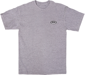 REAL STOCK OVAL SS S-HEATHER GREY