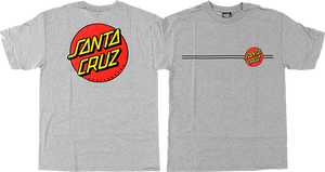 SANTA CRUZ CLASSIC DOT SS S-HEATHER GREY