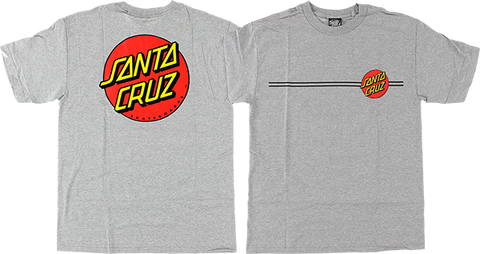 SANTA CRUZ CLASSIC DOT SS L-HEATHER GREY