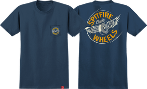 SPITFIRE FLYING CLASSIC POCKET SS S-NAVY/YEL