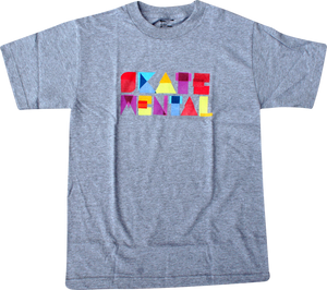 SKATE MENTAL PAPER BLOCK SS XL-HEATHER GREY