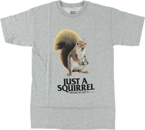 SKATE MENTAL SQUIRREL SS S-HEATHER GREY