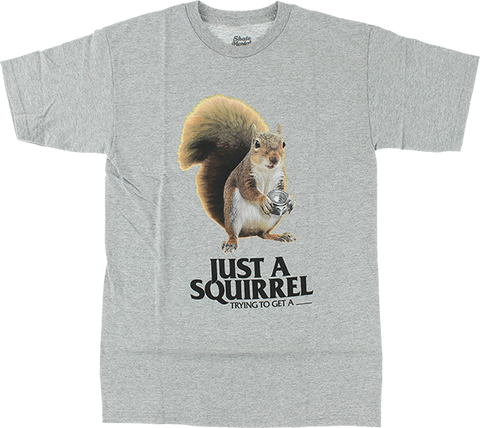 SKATE MENTAL SQUIRREL SS XL-HEATHER GREY