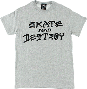 THRASHER SKATE & DESTROY SS M-GREY