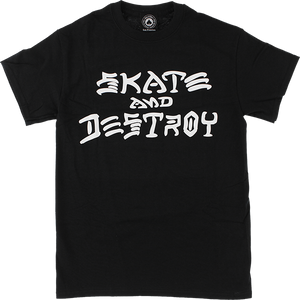 THRASHER SKATE & DESTROY SS L-BLACK