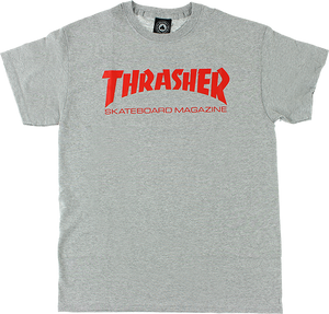 THRASHER SKATE MAG SS XL-HEATHER/RED