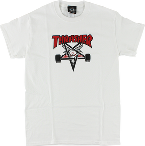 THRASHER TWO TONE SKATEGOAT SS M-WHITE