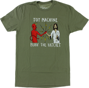 TOY MACHINE BURY THE HATCHET SS S-LIGHT OLIVE