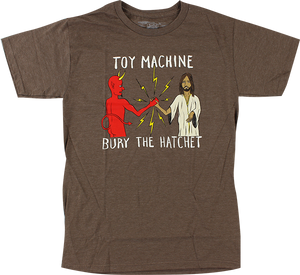 TOY MACHINE BURY THE HATCHET SS M-BROWN HEATHER