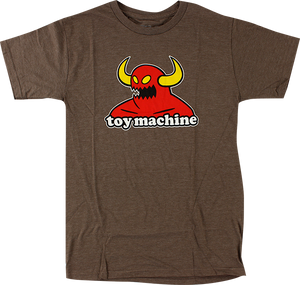 TOY MACHINE MONSTER SS L-BROWN HEATHER