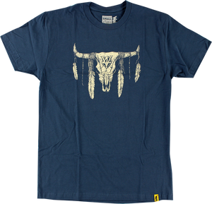 VOL4 COW SKULL SS S-NAVY