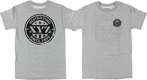 XYZ PRIDE SS S-HEATHER GREY