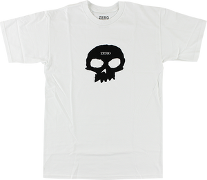 ZERO SINGLE SKULL SS M-WHT/BLK