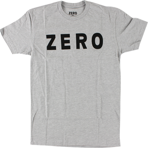 ZERO ARMY LOGO SS M-HEATHER GREY/BLK