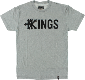 ZOO KINGS DROP KINGS SS S-HEATHER GREY