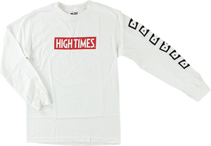 DGK HIGH TIMES LOCK UP L/S S-WHITE