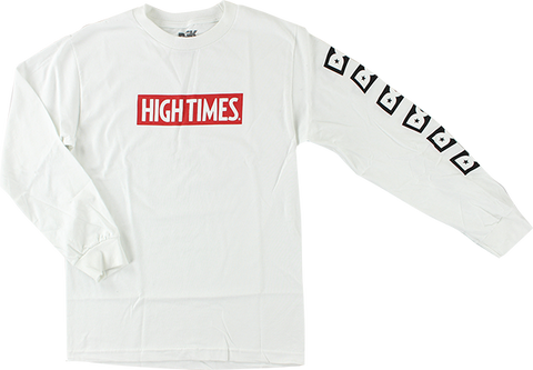 DGK HIGH TIMES LOCK UP L/S L-WHITE