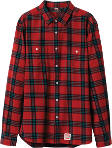 DIAMOND OX FLANNEL L/S BUTTONUP XL-RED