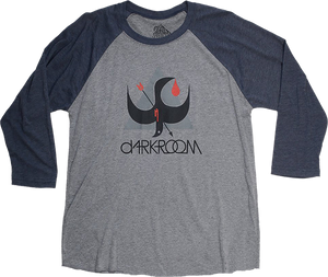 DARKROOM BIRDSTRIKE 3/4 SLV XL-CHARCOAL/NAVY