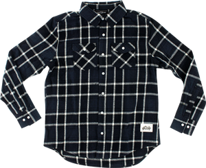 GRIZZLY NORTH AMERICAN FLANNEL LS S-BLK/GREY