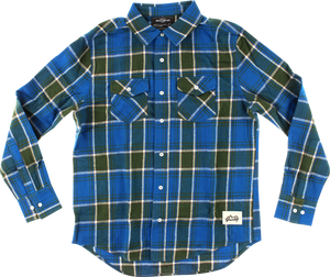 GRIZZLY NORTH AMERICAN FLANNEL LS M-BLUE