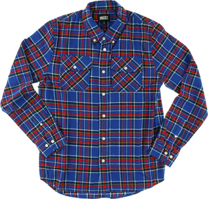 GRIZZLY TUNDRA BUTTON-UP LS S-BLUE PLAID