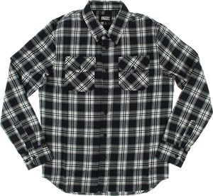 GRIZZLY TUNDRA BUTTON-UP LS XL-BLACK PLAID