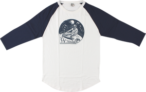 POWERFLEX HIPPY RAGLAN 3/4 SLV L-WHT/NAVY
