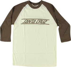SC CLASSIC STRIP RAGLAN L/S S-NAT HEATHER/BRN